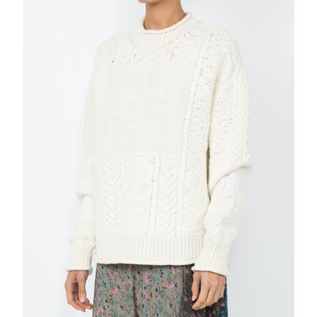 Givenchy Logo Knit Sweater - White Crew Neck Sweater