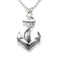 Detailed Nautical Anchor Necklace [Jewelry]