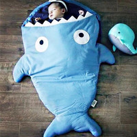 Baby Blanket / Shark Baby / Kids Room Accessories / Baby Gift / Baby Sleeping Bag / Kids Birthday / Babies Room / Children's Room