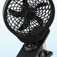 "O2COOL 5"" Battery Operated Clip Fan Grey"