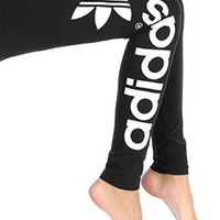 adidas Originals Women's Trefoil Leggings, Medium, Black/White