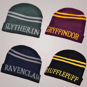 & Harry Potter knitted hat women Men hat cap  Winter Knitted Wool Cap Unisex Hip-Hop Skullies hat Beanie Hat Casual Gorro cap