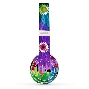 The Boldly Colored Flowers Skin Set for the Beats by Dre Solo 2 Wireless Headphones
