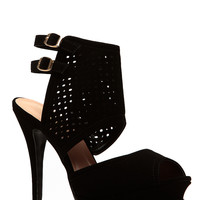 Black Cut Out Double Sling Heels
