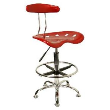 Tractor Seat Drafting Stool Red - Belnick