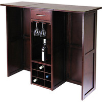 Newport Wine Bar Expandable Counter, Walnut: Furniture