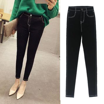 MDIG9GW 2016 New Fashion Ladies Casual Stretch Denim Jeans Leggings Jeggings Pencil Pants Thin Skinny Leggings Jeans Womens Clothing