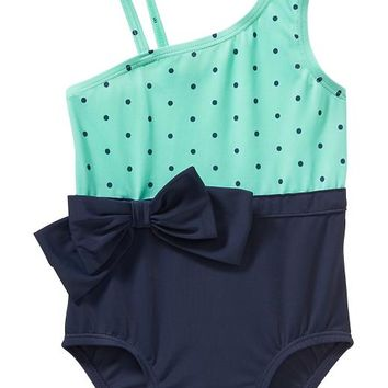 Old Navy One Shoulder Swimsuits For Baby