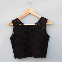 Black Lace Crop Top by Kee Boutique