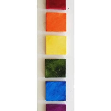 Art For Kids Room - Kids Room Art - Kids Room Decor- Rainbow Set of 6 Mini Canvases