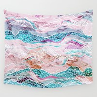 Making Waves Wall Tapestry by rskinner1122