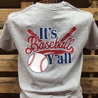 SALE Southern Chics It's Baseball Y'all Sports Girlie Bright T Shirt