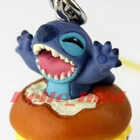 Tomy Disny capsule world Lilo & Stitch mobile strap C