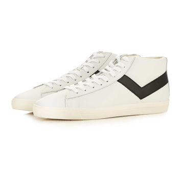 Pony Topstar White Leather Hi Tops - Shoes - New In - TOPMAN USA