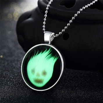 New Arrival Stylish Gift Shiny Jewelry Accessory Skull Terrible Noctilucent Necklace [8065787777]