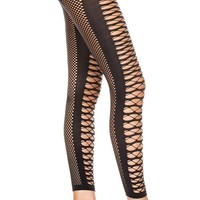 Multi Dimensional Diamond Net Footless | LEGGINGS