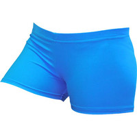 Neon Blue Spandex Volleyball Short