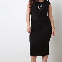 Crossover Sash Midi Dress