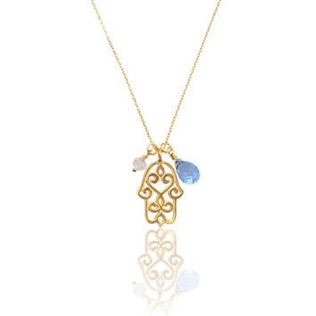 Hamsa Necklace • Gold Vermeil