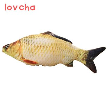 lovcha 40cmFree Shipping New crucian fish Pillow Stuffed Plush Animal Fish Toy little fish Stuffed Dolls Valentines for Baby