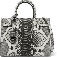 Saint Laurent - Sac De Jour Baby python-effect leather tote