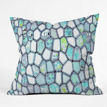 Ingrid Padilla Blue Cells Outdoor Throw Pillow