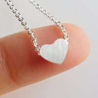 Dainty Heart Pendant Necklace for Women