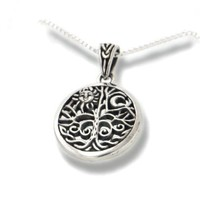 "Celtic Tree of Life Art Symbol with Sun and Moon Sterling Silver Pendant with 18"" Necklace:Amazon:Jewelry"