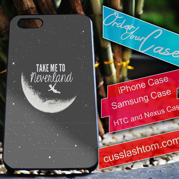 Exclusive Take me to never land iPhone for 4 5 5c 6 Plus Case, Samsung Galaxy for S3 S4 S5 Note 3 4 Case, iPod for 4 5 Case, HtC One M7 M8