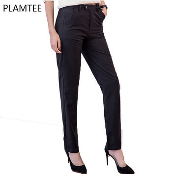 2017 High Quality Women Suit Pants OL Style Slim Work Wear Trousers Office Business Suit Pants Female Elegant Trousers