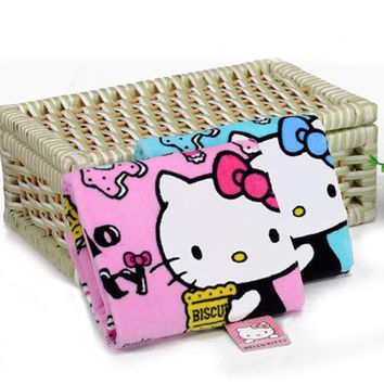 Home Textile Hand Towel HELLO KITTY Soft Face Towel Cleaning Towel Dry Hair Towel for Kitchen Bathroom Products Hot D