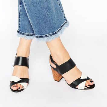 Ravel Leather Block Heeled Sandals