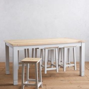 Harthaven Counter Table & Stool Set by Anthropologie in Grey Size: One Size Furniture