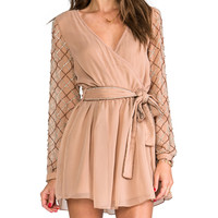 6 SHORE ROAD Gypsy Long Sleeve Dress in Blush