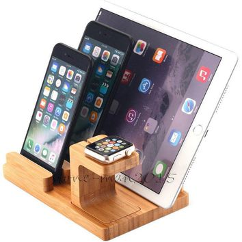 3in1 Charge Docking Station Stand For Apple Watch iPad iPhone 7 Samsung Tab S3/S