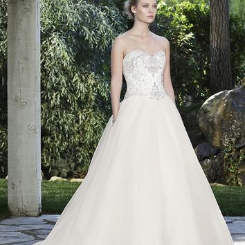 Casablanca Bridal Marigold 2249 Strapless Beaded Bodice Ball Gown Wedding Dress