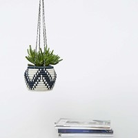 Wrapped Navy Hanging Planter - Urban Outfitters