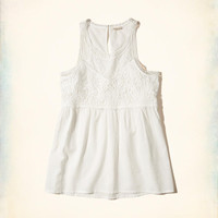 Girls Embroidered Mesh High-Neck Tank | Girls New Arrivals | HollisterCo.com