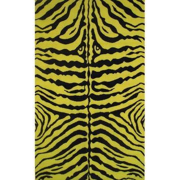 Fun Rugs Fun Time Collection Zebra Skin Yellow Area Rug