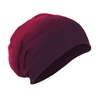District Men's Slouch Beanie OSFA Eggplant Dip Dye