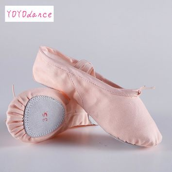 Women's summer ballet slippers Ballet shoes for woman danseuse canvans professional Ballet dancers for girls 4055