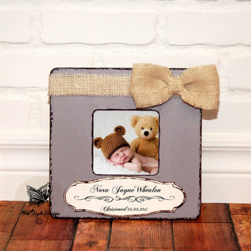 Christening Gift Baptism Gift for Godparents Gift Godmother Personalized Picture Frame Dedicated Gift New Baby Godson Goddaughter Godchild