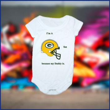 Green Bay Packers Inspired Baby Onesuit