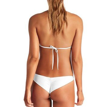 VITAMIN A White Eco Lux Samba Ruched Bottom