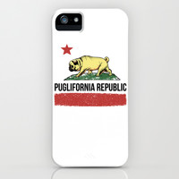 Puglifornia Republic iPhone & iPod Case by Huebucket
