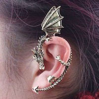 Vintage Punk Style Dragon&Wings Stud Earring new
