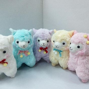 17cm Cute Lovely Animal Alpaca Vicugna Pacos Lama Arpakasso Alpacasso Soft Stuffed Plush Doll Toy