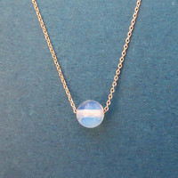 Moonstone, Ball, Gold, Silver, Rose gold, Necklace, Birthday, Best friends, Mom, Sister, Gift, Jewelry