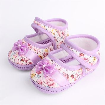 ROMIRUS Spring Soft Sole Baby Girl Shoes Cotton First Walkers Casual Baby Girl Sneaker