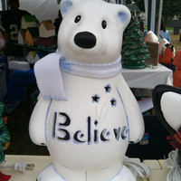 Believe Bear- Ceramic Polar Bear Lamp